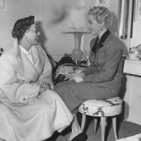 Lana Turner and Joan Crawford - set of A Life Of Her Own
