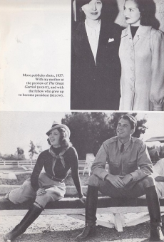 Lana Turner with her mother and with Ronald Reagan