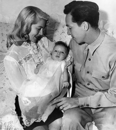 Lana Turner and her husband Steve Crane and their daughter Cheryl Crane