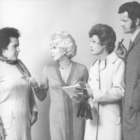 Honey Sanders, Lana Turner, Louise Kirtland and Robert Kaye  - Forty Carats