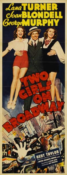 Poster Two Girls On Broadway