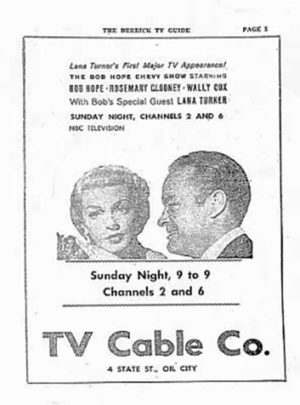Poster Lana Turner - Bob Hope Chevy Show - 10 March 1957