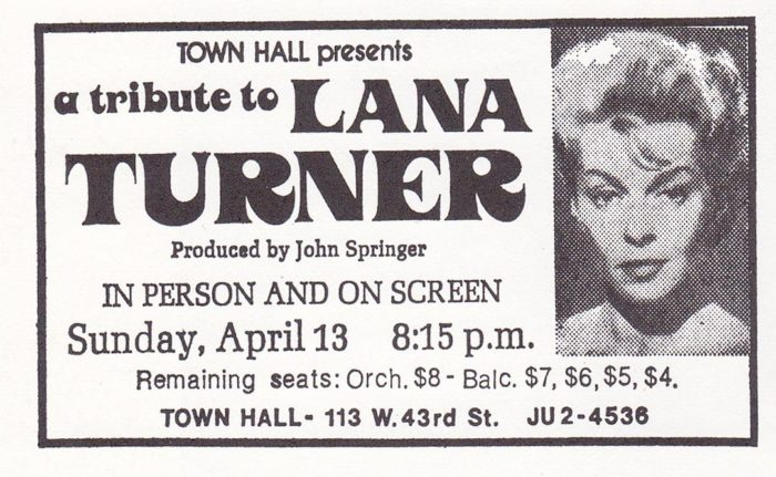Lana Turner - 13 April 1975