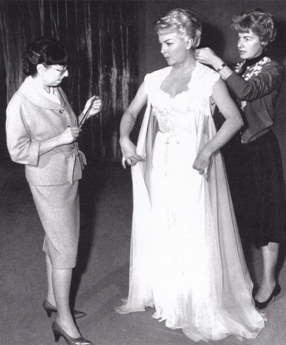 Edith Head and Lana Turner