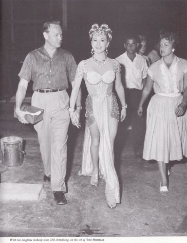 Lana Turner - On the set of The Prodigal