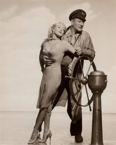 Lana Turner and John Wayne - The Sea Chase - 1955