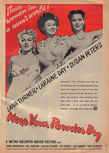 Poster Keep Your Powder Dry - 1945