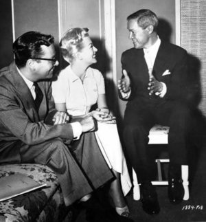 Ross Hunter, Lana Turner and Jean-Louis - set of Imitation of Life -1959