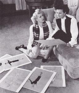 Lana Turner with Irene on Slightly Dangerous