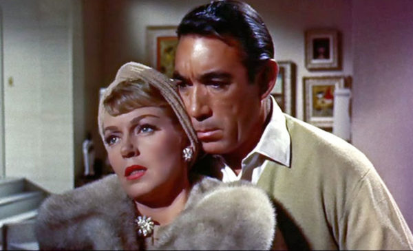 Lana Turner and Anthony Quinn in Portrait In Black