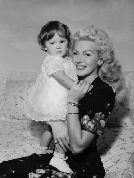 Lana Turner and her daughter Cheryl Crane