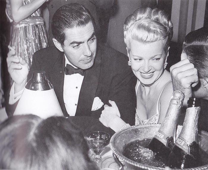 Lana Turner and Tyrone...